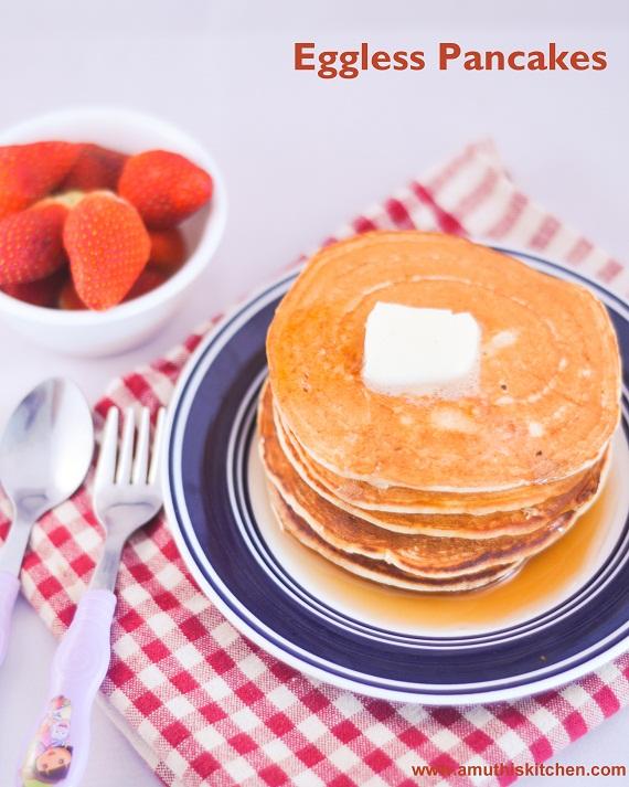 Simple eggless pancake recipe fluffy glenda for Award winning pancake recipe