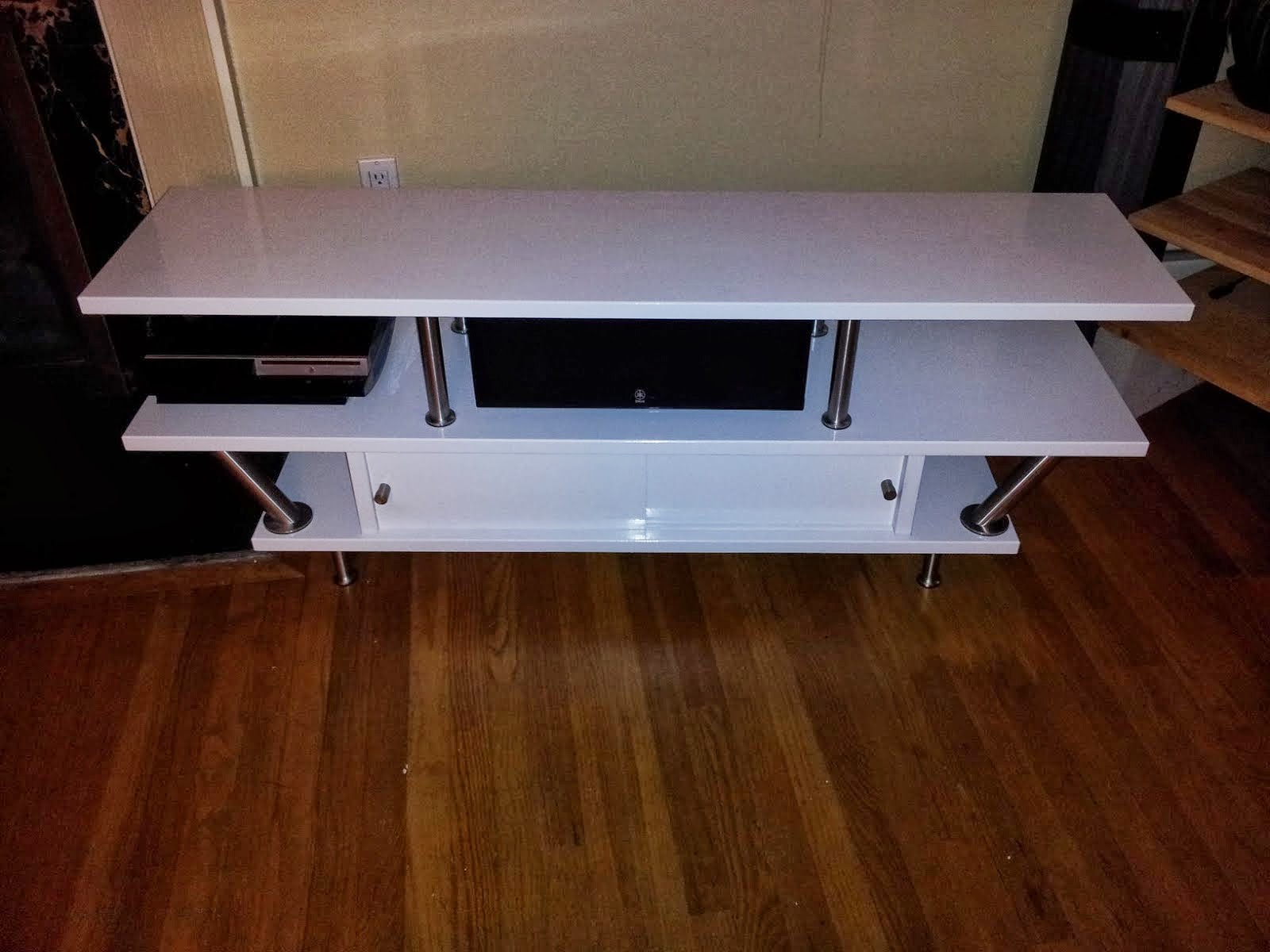 Tv stand with space for center channel ikea hackers - Ikea table tv ...
