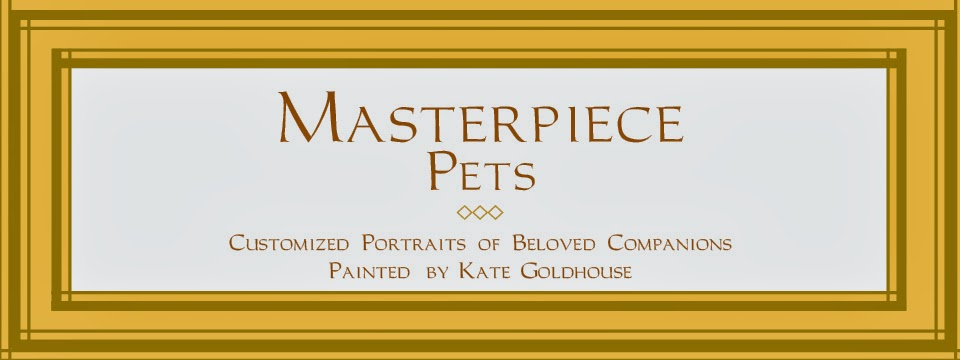 Masterpiece Pets Animal Portraits by Kate Goldhouse