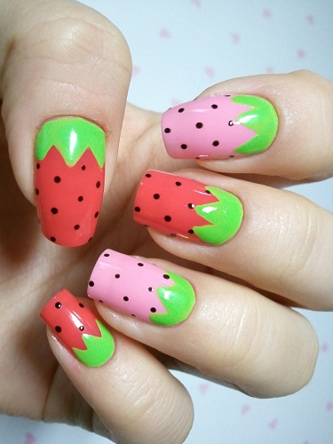 Lush fab glam blogazine style me pretty fruit nail art designs apples lime glitter nail art prinsesfo Image collections