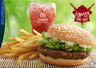 Mcdonalds samurai beef burger sakura mcfizz