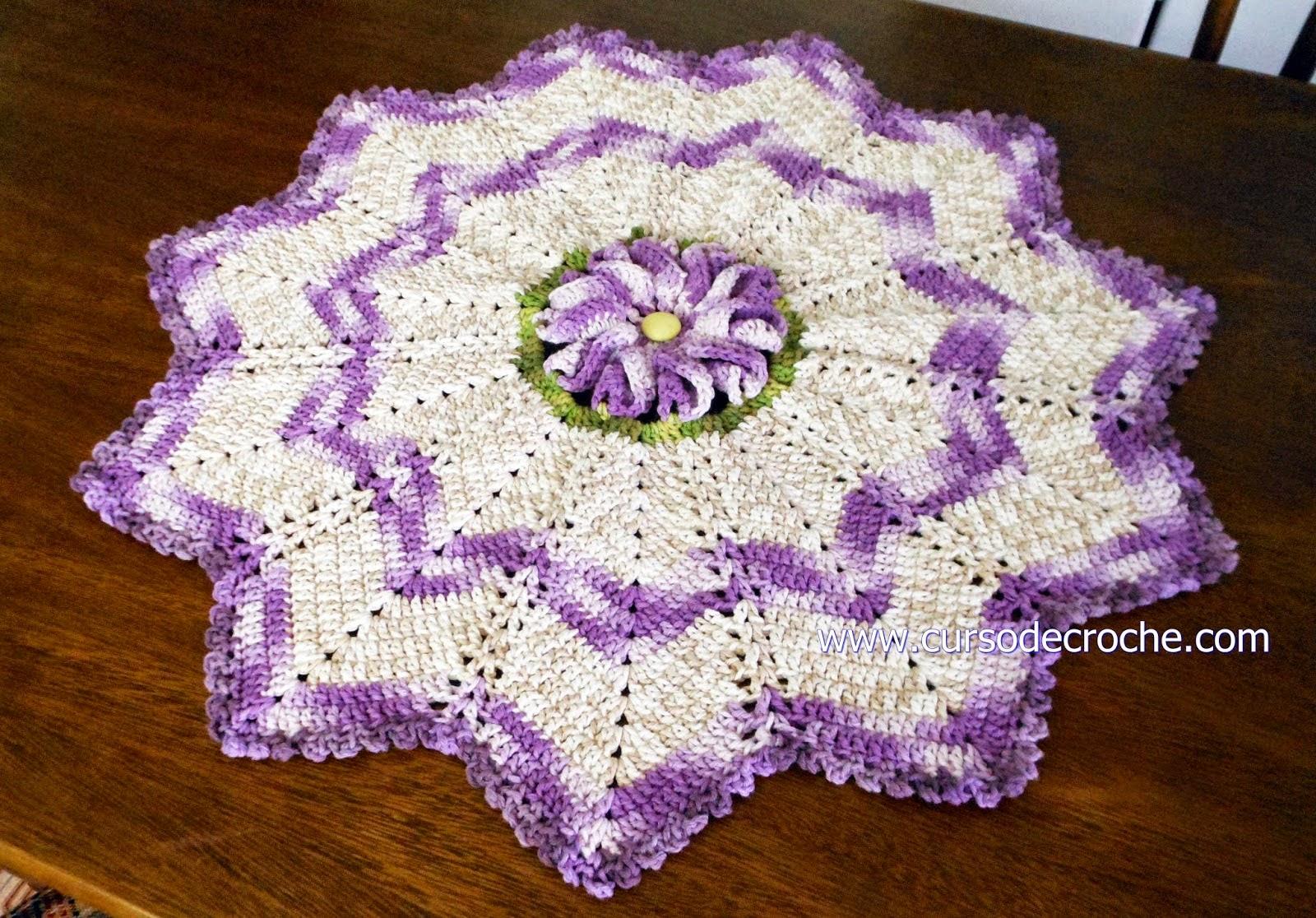 aprender croche tapetes flores multicolor lilás dvd video-aulas loja curso de croche frete gratis edinir-croche