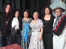 CARLOS CABRAL y BAILARINES: GLADIS y RICARDO y pareja de EL CEIBAL