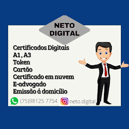 NETO DIGITAL - SEU CERTIFICADO NA MÃO, ATENDIMENTO DOMICILIAR