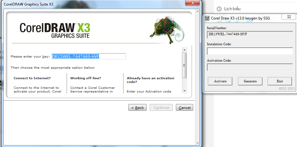 corel draw x3 activation code list