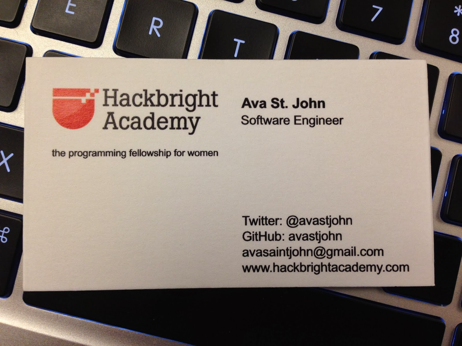 Side note: We were all given business cards for the conference. That ...