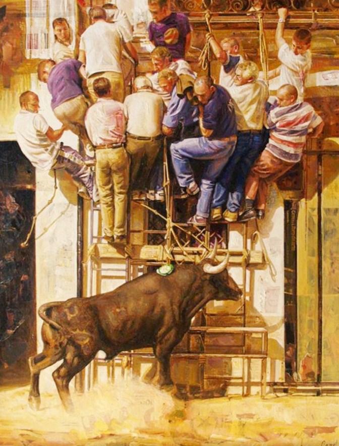 pinturas de toreros cuadros de toreros pintados en óleo sobre