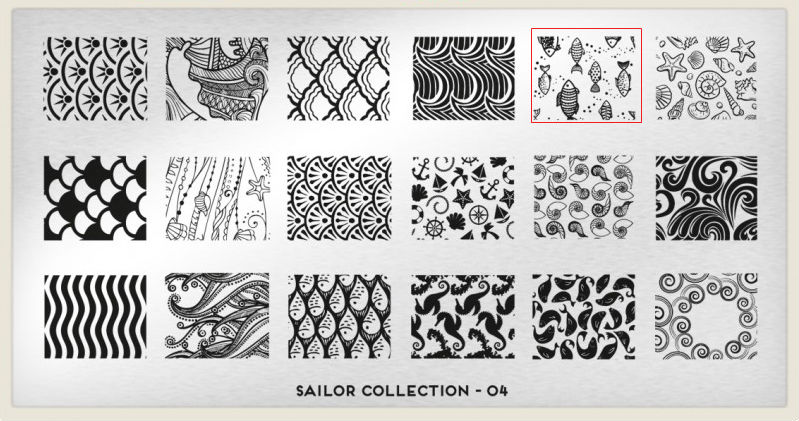 placa Moyou - Sailor Collection - 04 estampado