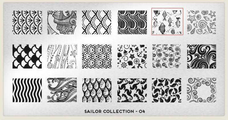 placa Moyou - Sailor Collection - 04 estampado