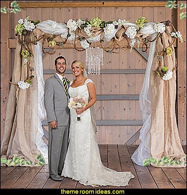 Diy Wedding Arch: Maries Manor: Rustic Style