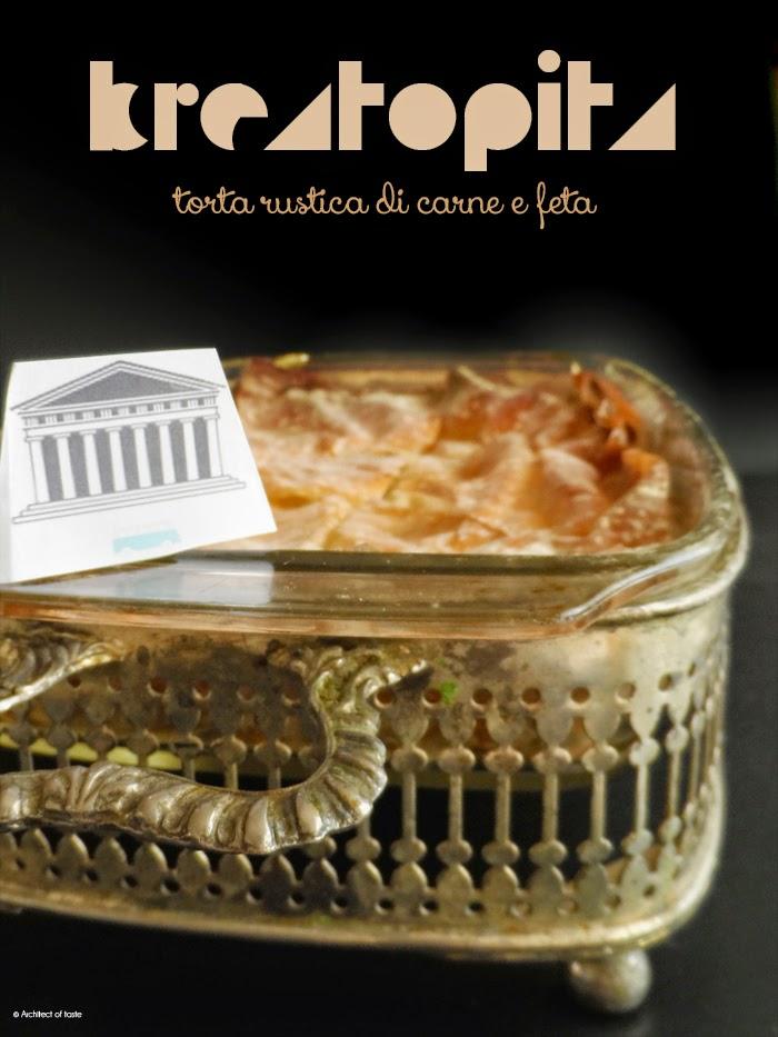 kreatopita - torta rustica di carne e feta