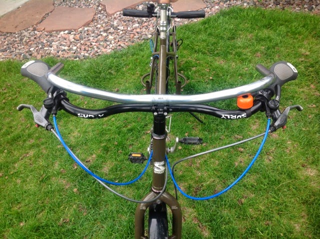 Surly Open Bars Swept Back Bicycle Handlebars Cromo Steel 0 Rise 666m Wide