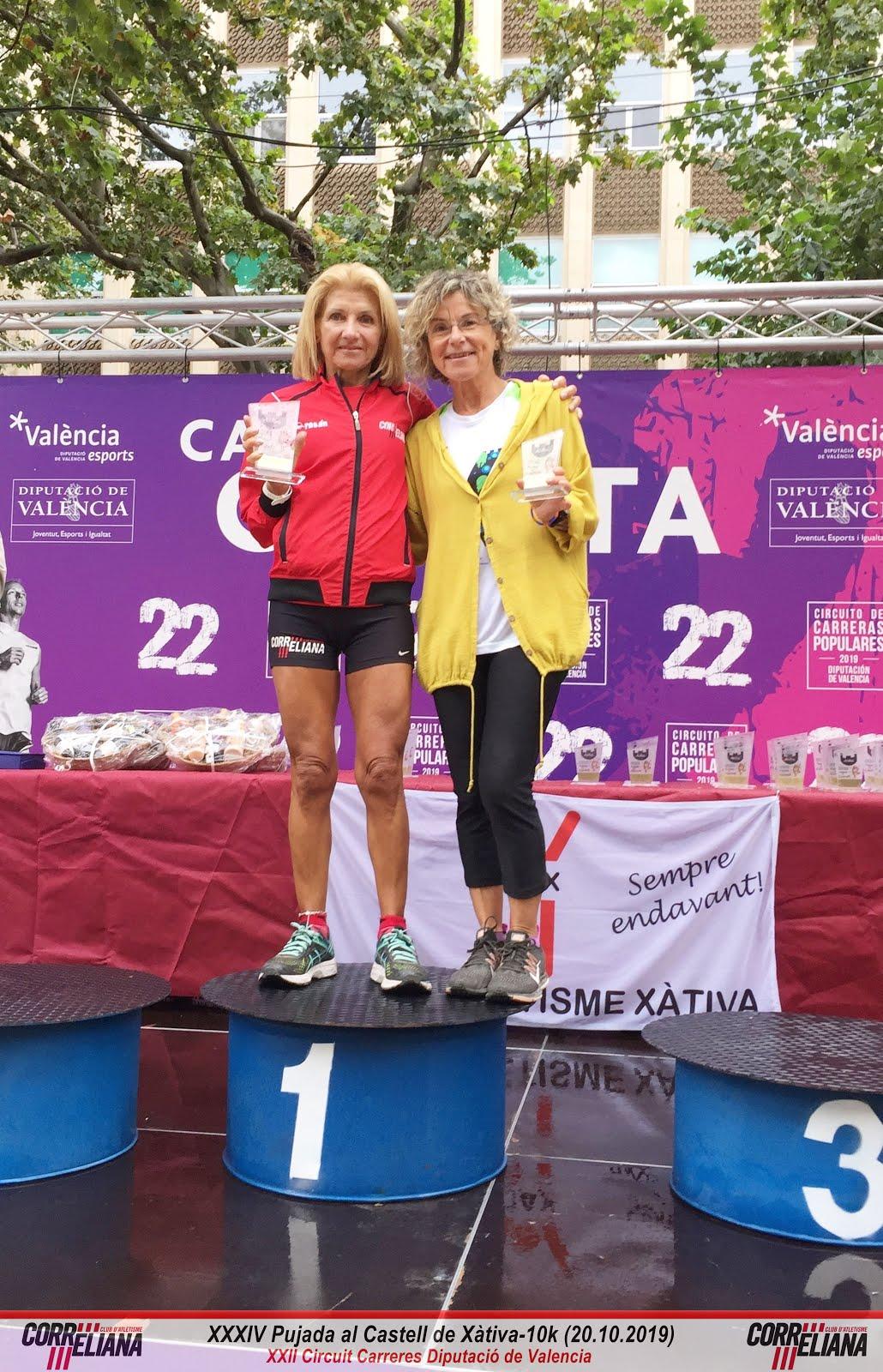 MAGDA VILA, 1ª VET.C F, PUJADA AL CASTELL DE XÀTIVA 2019