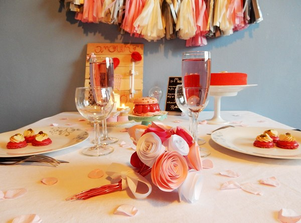 Déco de table : Saint Valentin