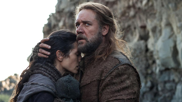 jennifer connelly as naameh , russell crowe as noah