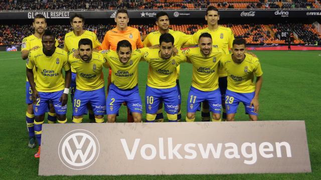Alineación titular UD Las Palmas Copa del Rey en Mestalla