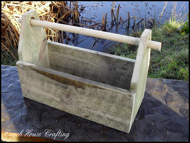 garden trug, wooden trug, scrap wood trug