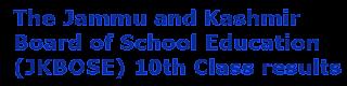 JKBOSE 10th Class Results