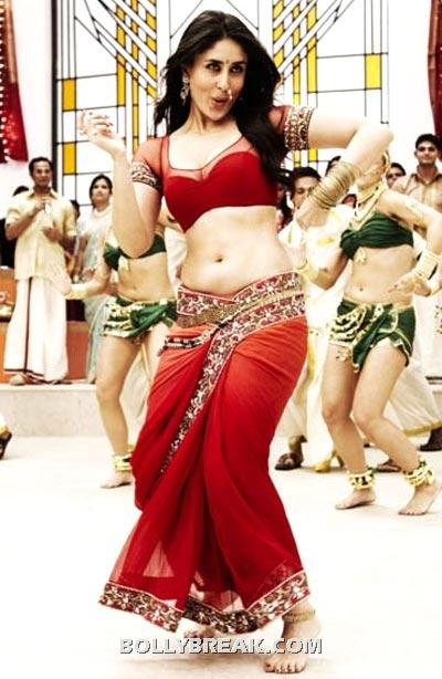 Kareena Kapoor in Ra.One in Red Sari - Bollywood Actresses in Saree - Top 25 List