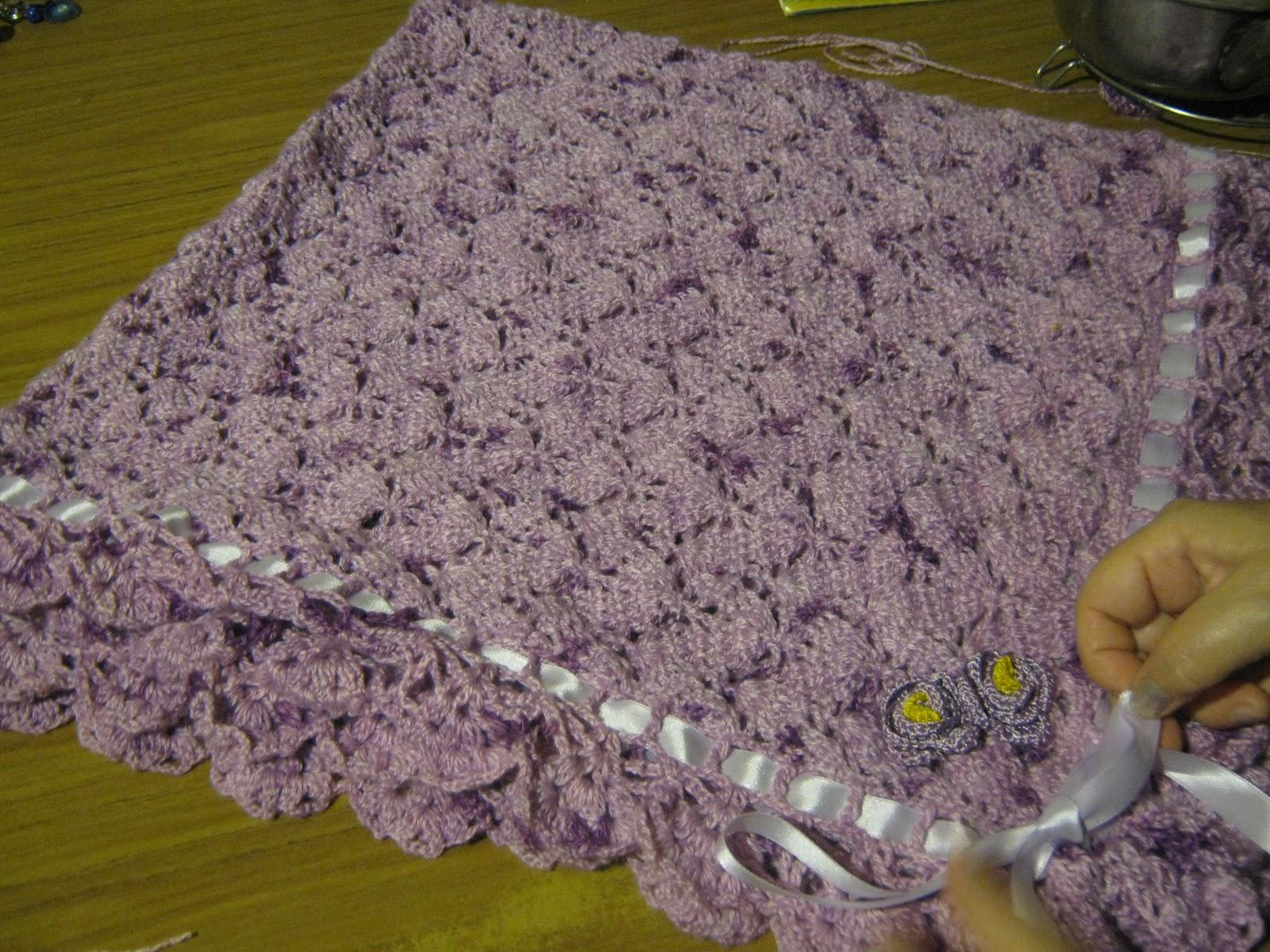 Gloris Crochet: Pañoleta para bebe