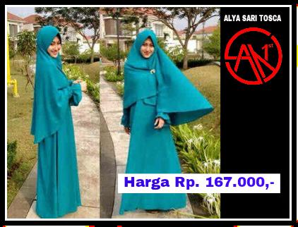 Busana Muslim Alya Sari Tosca San First Collection Toko