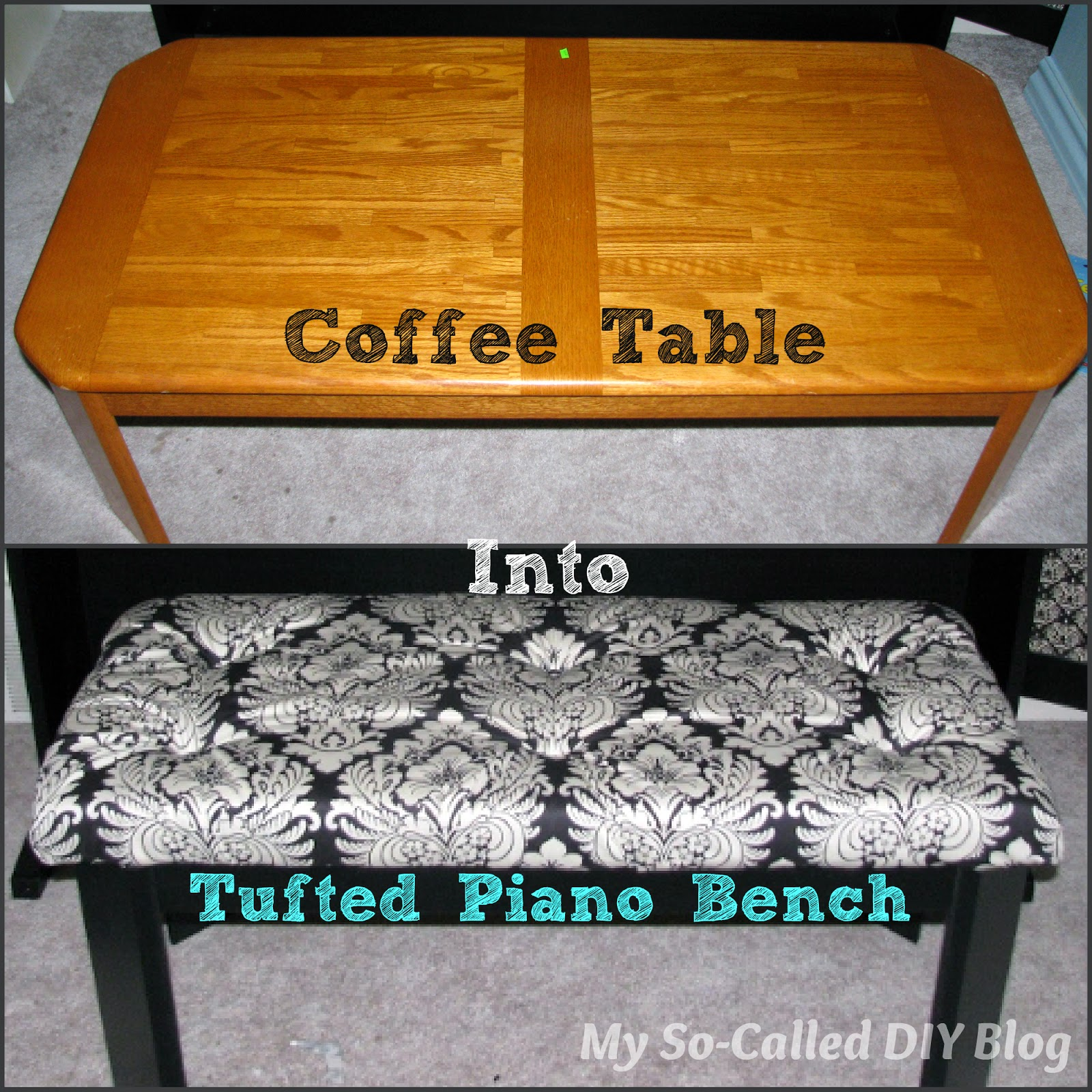 http://www.mysocalleddiyblog.com/2015/04/coffee-table-into-tufted-piano-bench.html