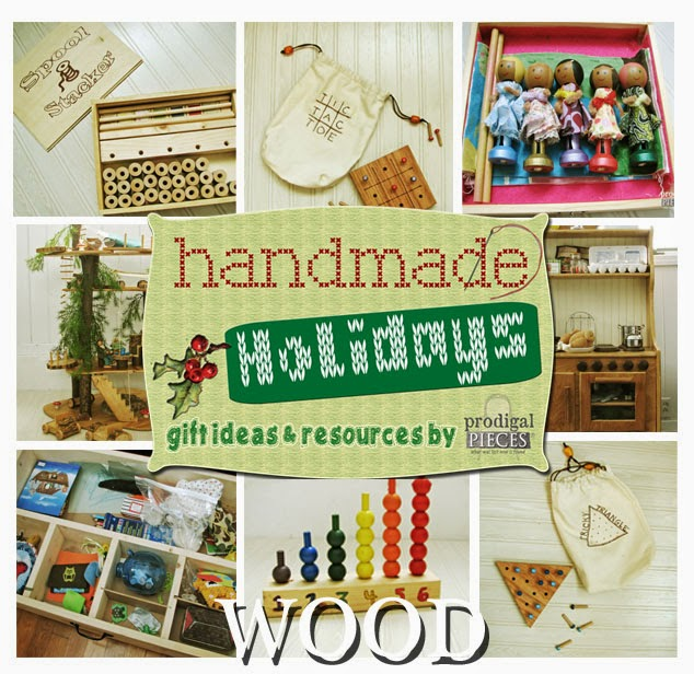 Handmade Holidays: Gift Ideas & Resources using Wood by Prodigal Pieces www.prodigalpieces.com #prodigalpieces