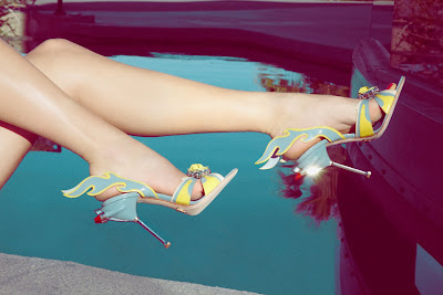 prada cadilac coupe de ville shoes, miu miu, pin up photography