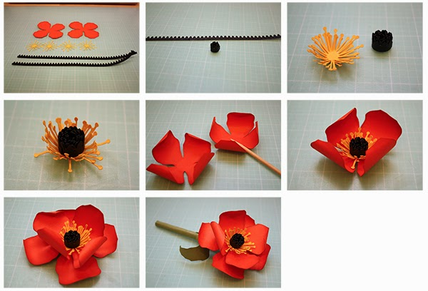 Bits of paper 3d poppy and iris paper flowers and a grass vase here is the tutorial mightylinksfo