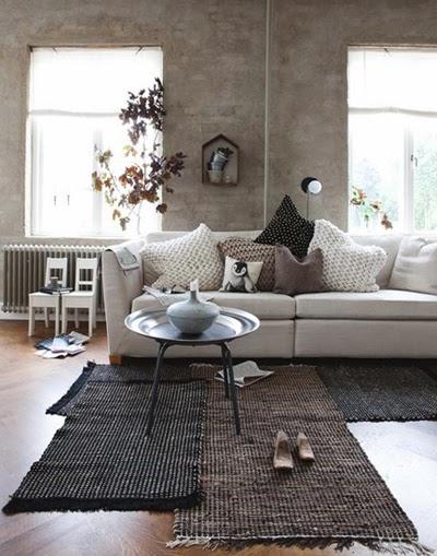 Sofá y manta