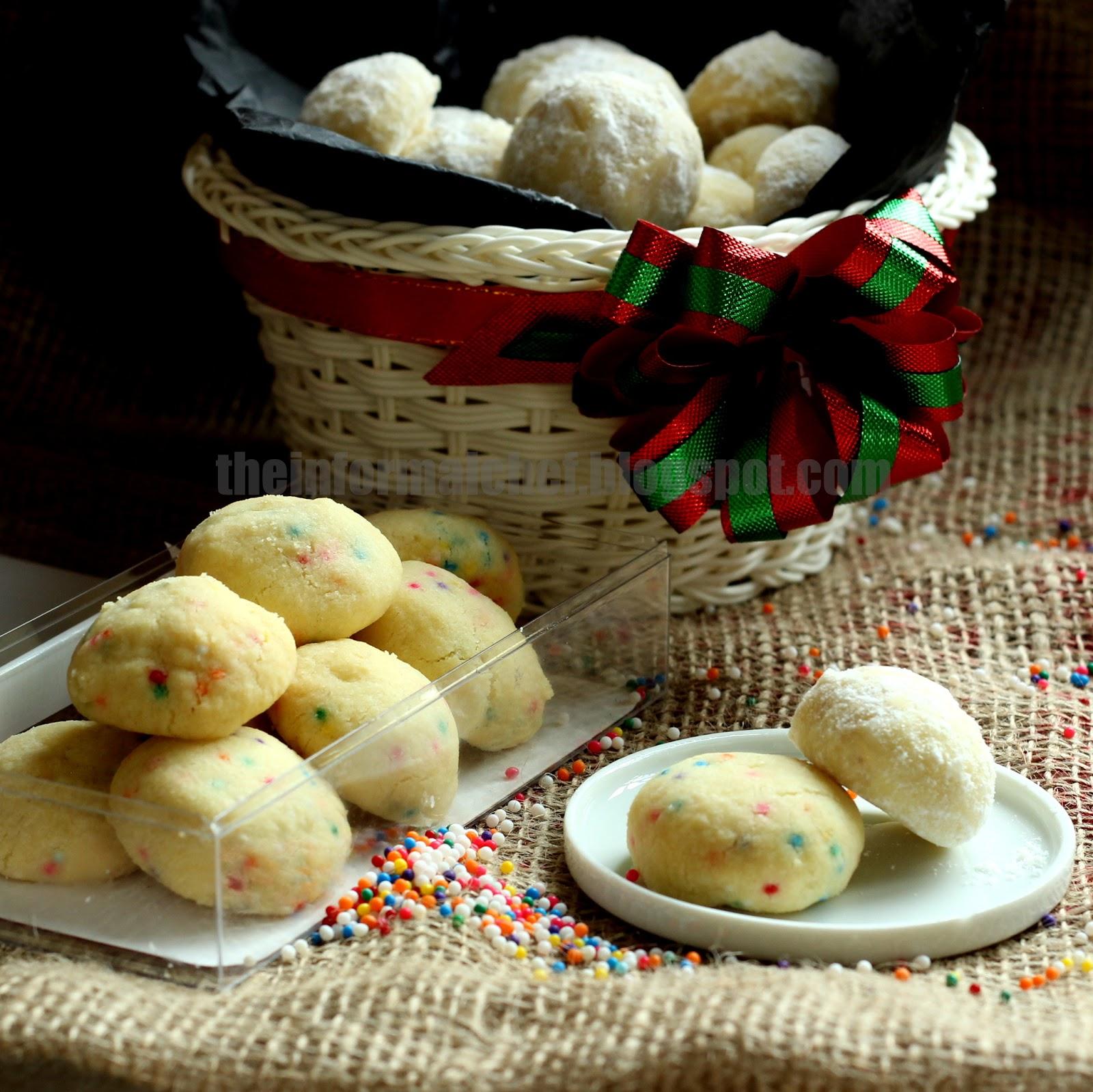 The Informal Chef Christmas Shortbread Cookie Recipes Nonpareils