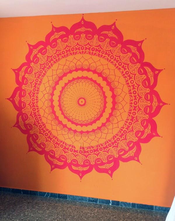 split complementary mandala mural project
