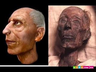 صورة تقريبية لوجه فرعون في حياته!!