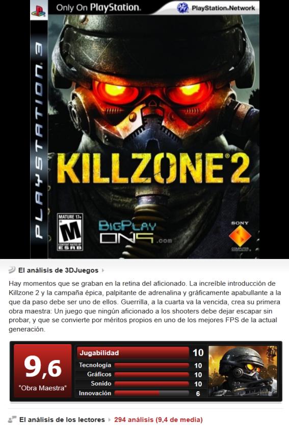 Killzone 2 [Multi][3.55][PS3]