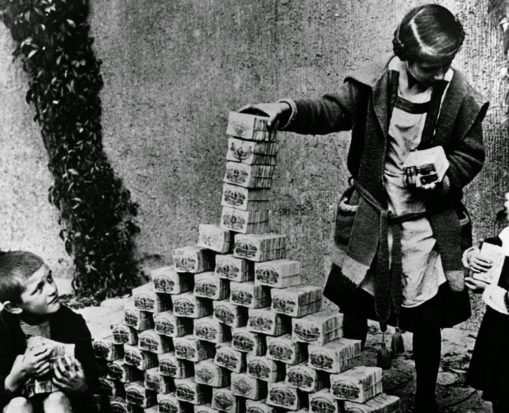 Currency became worthless with kids using it like Lego bricks.