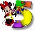 Alfabeto de Minnie Mouse pintando 5.
