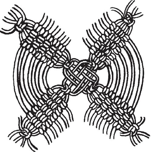 Подвеска-цветок: схема плетения