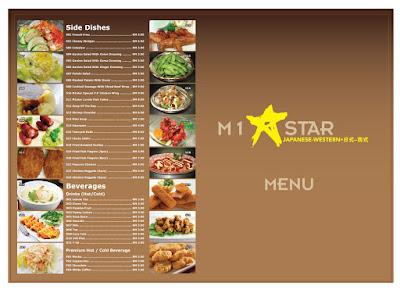 M1Star Cafe Menu