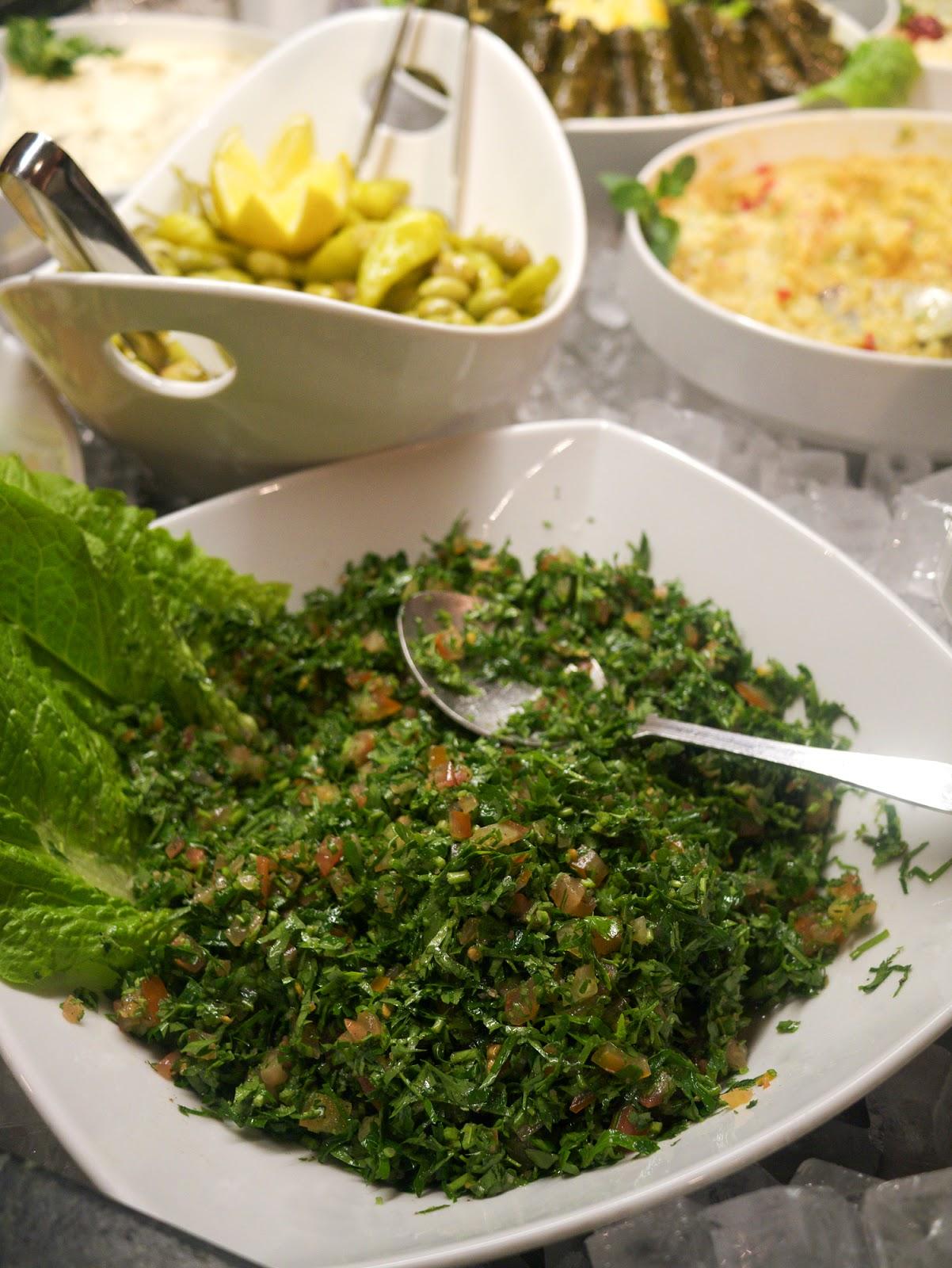 Rodizio Lebanon restaurant Fulham tabbouleh