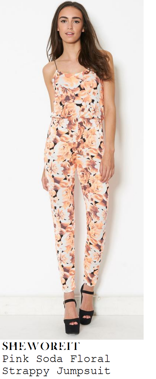 jessica-wright-peach-orange-floral-print-sleeveless-scoop-neck-jumpsuit