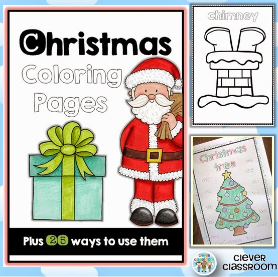Christmas Coloring Pages plus 25 ways to use them December printables for Pre-K-2 grades