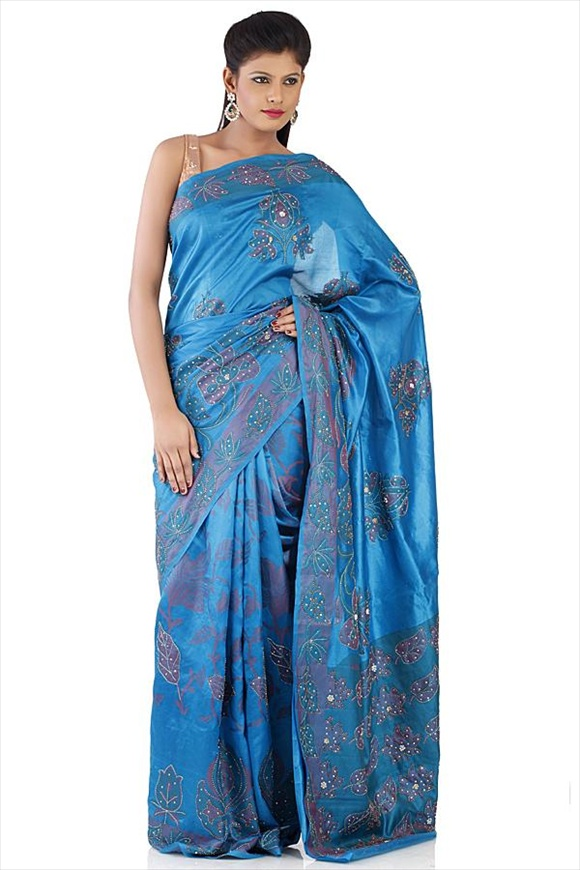 Blue Moon Kattan Silk Banarasi Saree