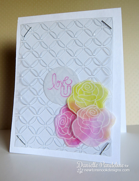 Love U Rose card by Danielle Pandeline for Newton's Nook Designs | Love Grows