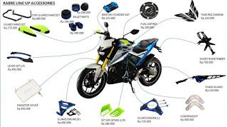 Daftar Harga Aksesori Yamaha Xabre