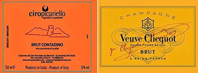 Французское шампанское Вдова Клико против итальянского вина Чиро Пикарьелло