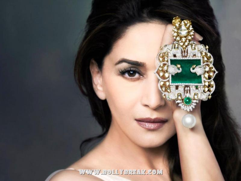 Madhuri Dixit Nene - Madhuri Dixit Jewellery Pics - Emeralds for Elephants collection