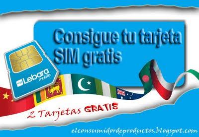 Tarjetas SIM Gratis Lebara Movil con 1 Euro saldo gratis