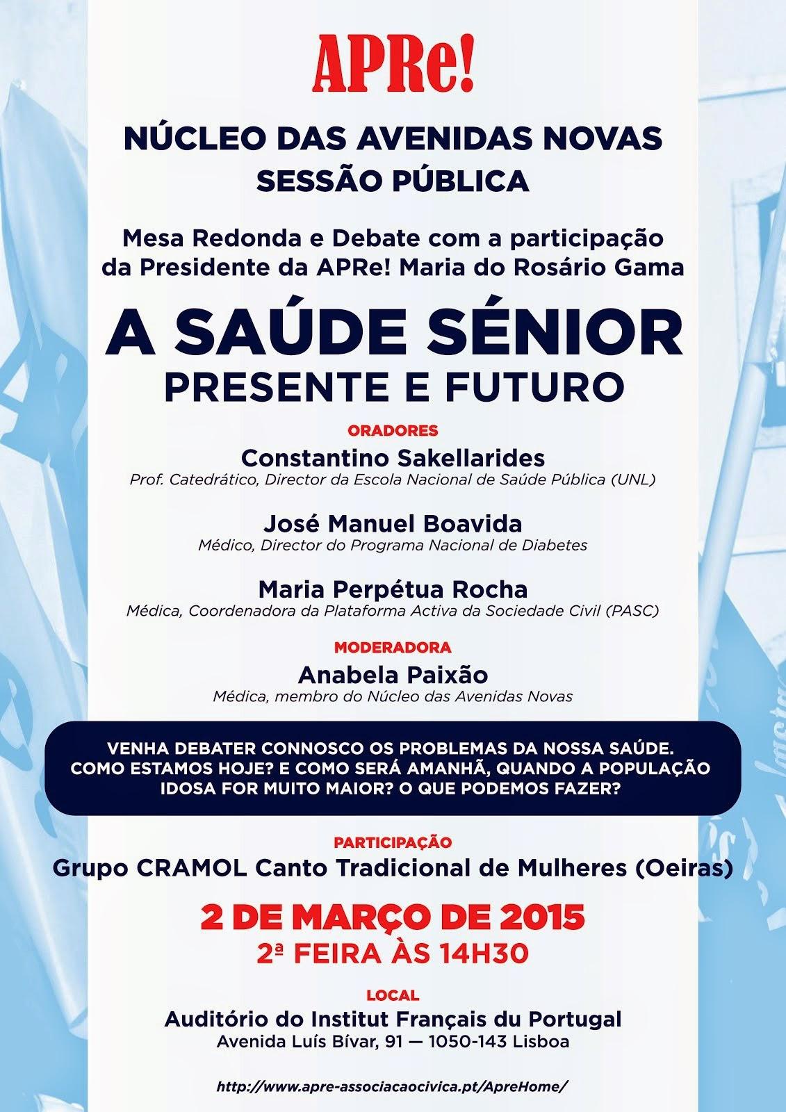 """Lisboa, conferência/debate: """"A SAÚDE SÉNIOR - PRESENTE E FUTURO"""""""