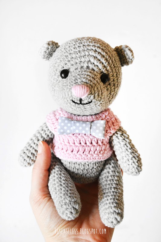 Grey Bear Amigurumi Crochet Pattern : Airali design. Where is the Wonderland? Crochet, knit and ...