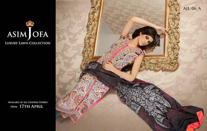 Asim Jofa Luxury Lawn Dresses 2014